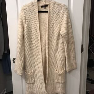 Knitted Long Open Cardigan
